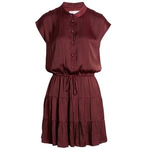 Rebecca Minkoff Burgundy Ollie Fit and Flare Dress
